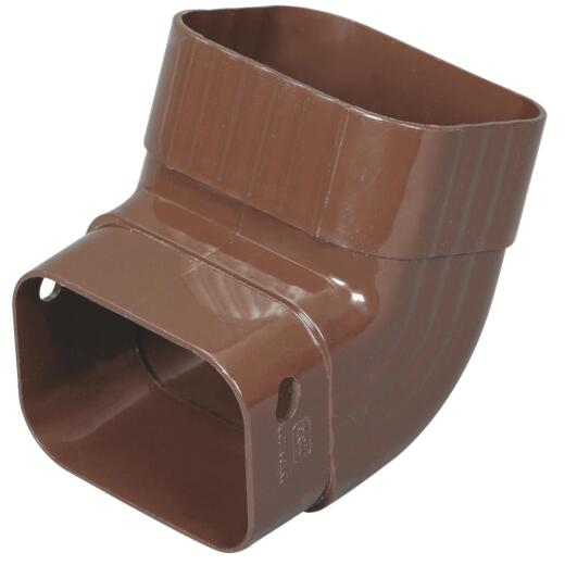Amerimax 2 In. x 3 In. Brown Vinyl Front A Elbow