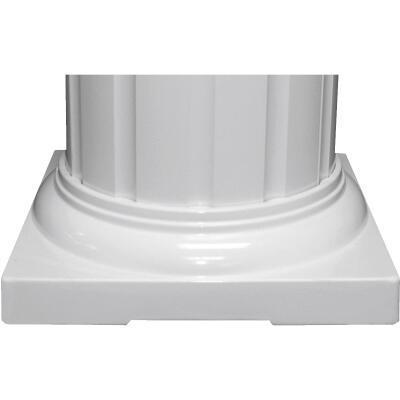 Crown Column 8 In. White Aluminum Standard Cap/Base