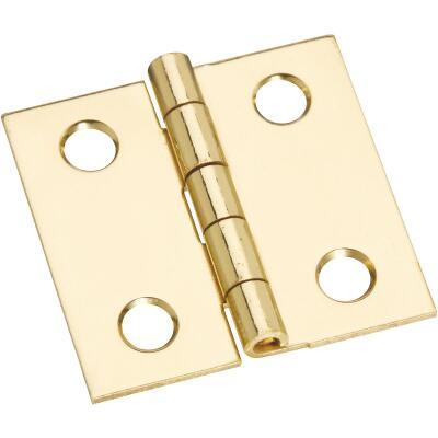 National 1 In. x 1 In. Brass Medium Decorative Hinge (4-Pack)
