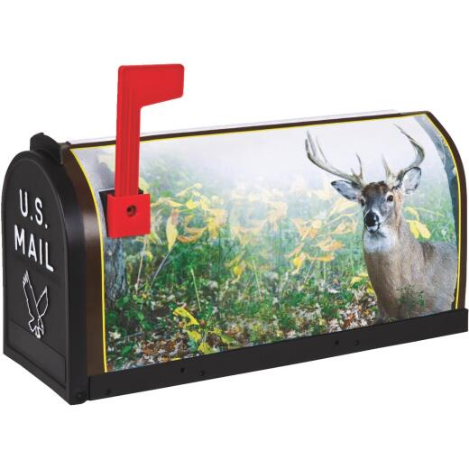 Flambeau No. 1 Deer Decorative Plastic Rural Post Mount Mailbox