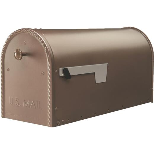 Edwards Venetian Bronze Steel Post Mount Mailbox