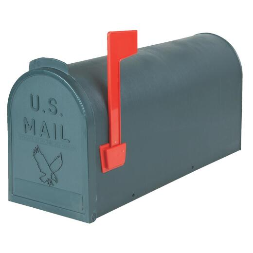 Flambeau No. 1 Green Plastic Rural Post Mount Mailbox