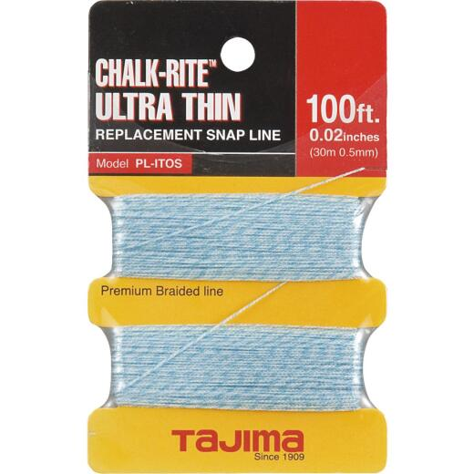 Tajima Chalk-Rite 100 Ft. Braided Nylon Ultra Thin Chalk Line