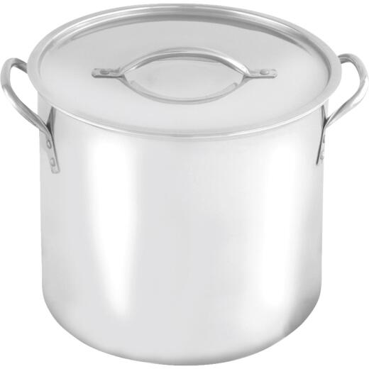 McSunley 16 Qt. Polished Stainless Steel Stockpot