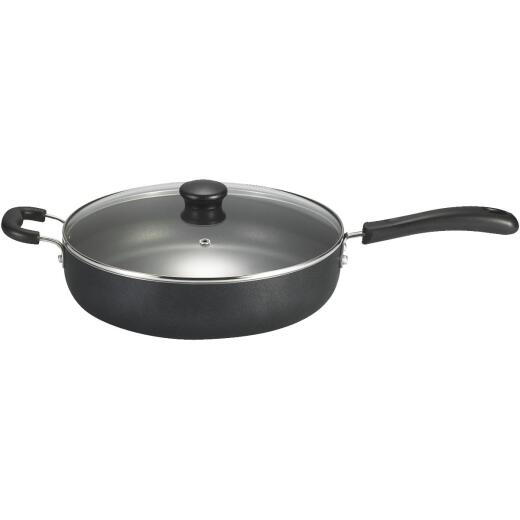 T-Fal 12 In. Black Aluminum Non-Stick Fry Pan with Lid